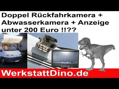Wohnmobil Doppel Rückfahrkamera, Abwasserkamera und Monitor. Unter 200 Euro? Test! Mit Schaltplänen.
