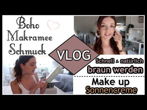 Boho Makramee Schmuck Haul ● Schneller braun werden mit Vitamin D3 ● Beste Make up Sonnencreme