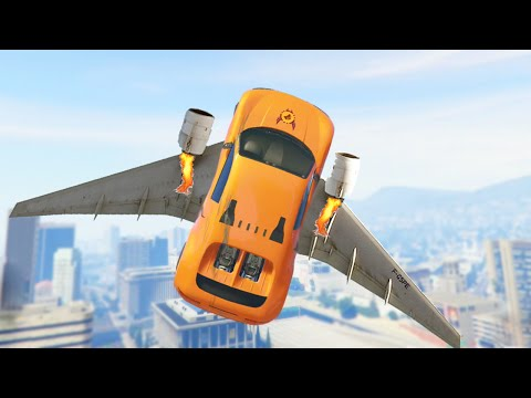 FLYING CARS #1337 (GTA 5 Funny Moments)