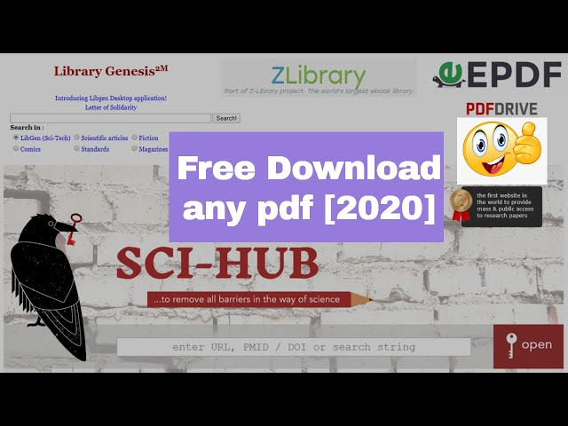 How to Download Paid Pdf Book and Journals Free from Popular 5 Websites [2020]