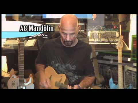 GODIN A8 Cognac Burst HG Elektroakustická mandolína