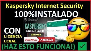 COMO DESCARGAR 🔰 KASPERSKY INTERNET SECURITY🔒 2018 EN ESPAÑOL CON LICENCIA LEGAL [FUNCIONA]😱