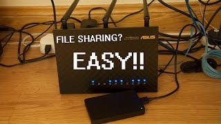 Asus RT-AC68U Virtual NAS+DDNS (File Sharing) Setup