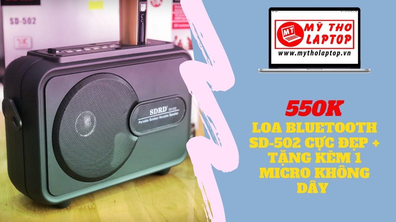 Review Loa Bluetooth SD-502 cực đẹp - Tặng kèm 1 Micro không dây