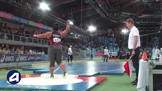 Liévin 2019 : Poids Juniors F (Ashley Bologna avec 16,53 m)