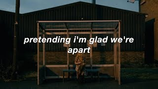 laughing on the outside, crying on the inside lyrics // the end of the f***ing world