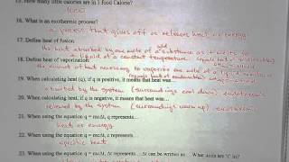 WS   Thermochemistry Test Review   2012 -  answers