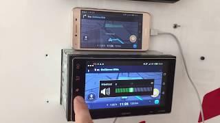 Aplikace WAZE a WhatsApp v 2DINi