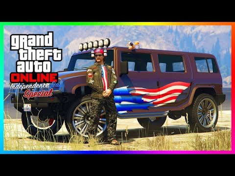 GTA Online Independence Day 2018 Update/4th Of July DLC - NEW Vehicles, Rare Items & MORE! (GTA 5)