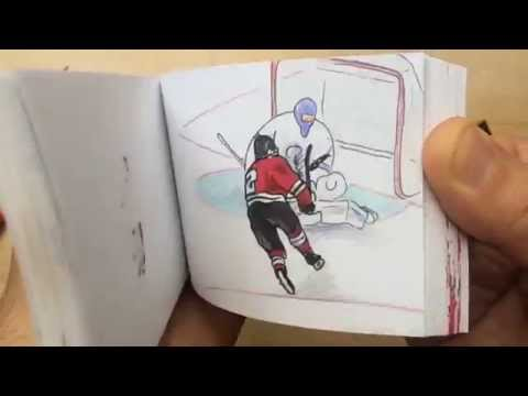 Chicago Blackhawks Win the 2015 Stanley Cup...in (correct) flip book form!