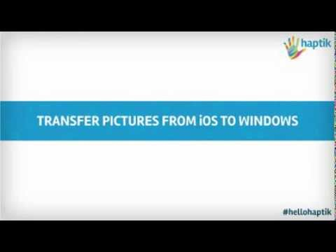Transfer Pictures from iPhone iPad iPod to Windows computer laptop