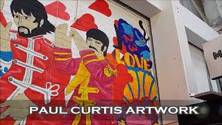 Time lapse video of The Beatles Sergeant Pepper Mural at Baltic Market, Liverpool