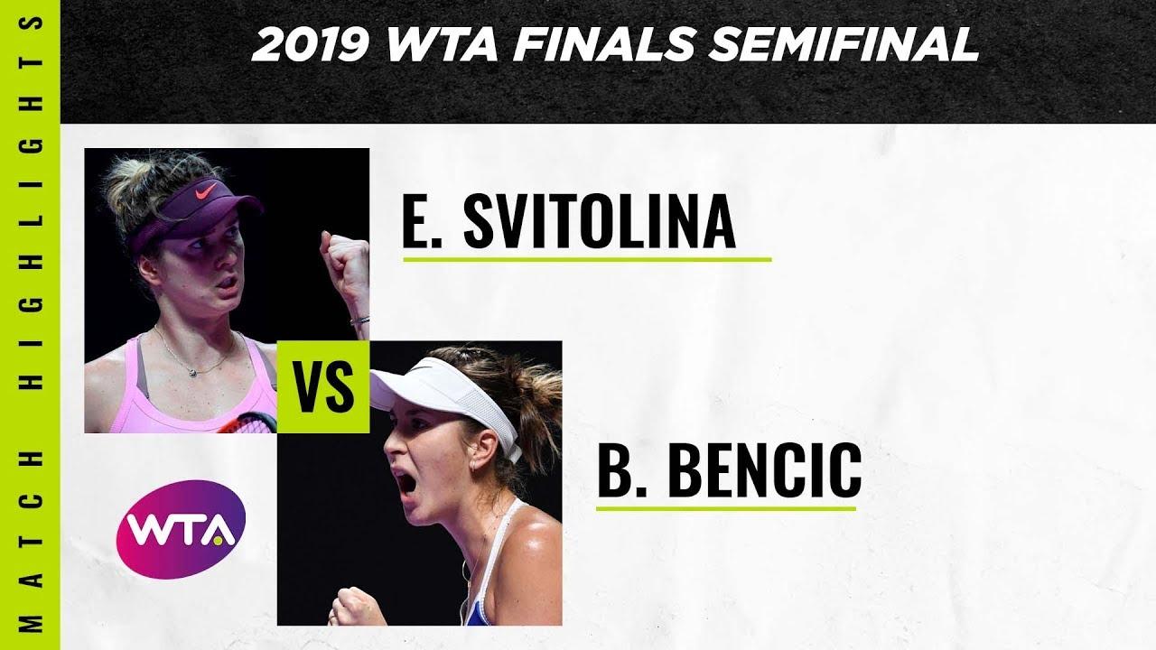 Обзор полуфинала Элина Свитолина - Белинда Бенчич на WTA Finals (ВИДЕО)