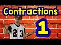 Contractions 1 | English Song for Kids | Reading & Writing Skills | Grammar | Jack Hartmann
