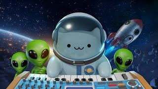 Bongo Cat In Space  3d Animation
