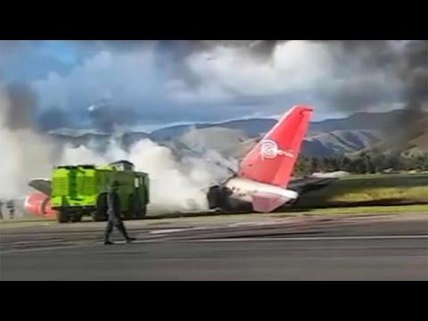فرود اضطراری یک هواپیما در پرو با ۱۴۱ سرنشین