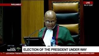 BREAKING: Cyril Ramaphosa elected president unopposed