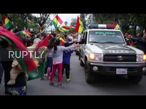 Bolivia: People celebrate Morales' resignation in Cochabamba