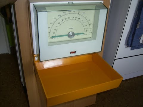 Funktionsprüfung  KRUPS Küchenwaage Wandwaage Waage 70er Jahre