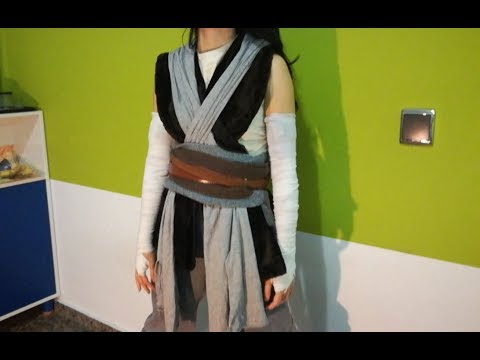 Disfraz Rey, episodio VIII , jedi chica,  easy and free homemade STAR WARS girl costume