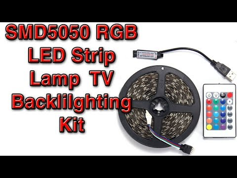 SMD5050 RGB LED Strip Lamp TV Backlilghting Kit / Drill Set from Banggood