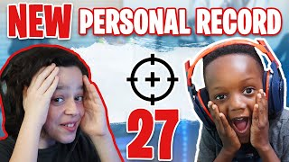 27 KILLS IN FORNITE - BY MY COACH ROKE! - WHILE ON MY WAY TO CHAMPION LEAGUE!!