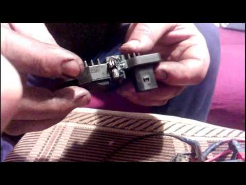 Ремонт генератора bosch 120A Skoda Octavia (замена щёток шоколадки )