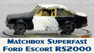 Matchbox Custom Restoration Superfast Ford Escort RS2000 Rally Car Build Off