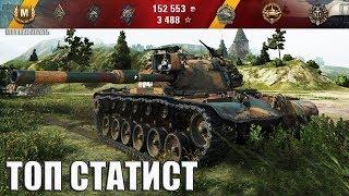 M48A1 Patton МАСТЕР КЛАСС от ТОП статиста 🌟🌟🌟 World of Tanks лучший бой wot