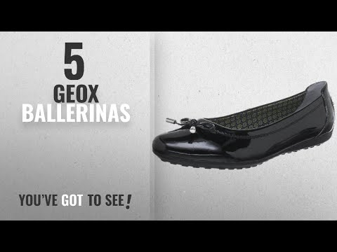 Top 5 Geox Ballerinas [2018]: Geox Women's Black Patent D Piuma Ballerina 41 M EU