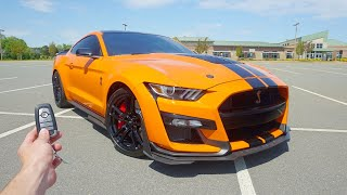 2020 Ford Mustang Shelby GT500: Start Up, Exhaust, Burnout, Test Drive and Review