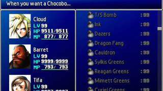 Final Fantasy VII Perfect Game File