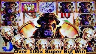☆SUPER BIG WIN☆ Buffalo Gold Slot Machine Max Bet Bonus | Tripple Jackpot GEMS Slot Live Play $9 Bet