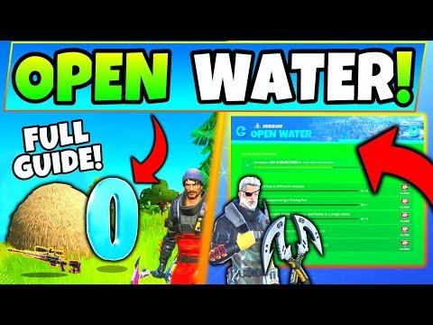 Fortnite OPEN WATER CHALLENGES GUIDE CHAPTER 2! - Hideouts, Hidden O (Fortnite Season 11)