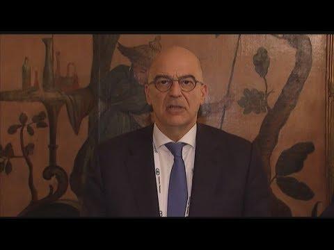 Δήλωση του υπουργού εξωτερικών Νίκου Δένδια μετά τη Διάσκεψη για την Ασφάλεια στο Μόναχο