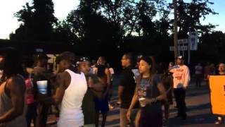 Night falls on Ferguson  (August 13, 2014)