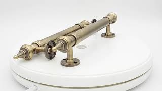 """Дверная ручка-скоба А 114 - 250мм  AB от компании Интернет магазин дверной фурнитуры """"Palermo"""" - видео"""
