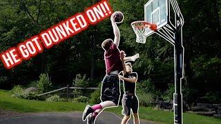 KID GETS DUNKED ON HARD!!! HE GOT DESTROYED!