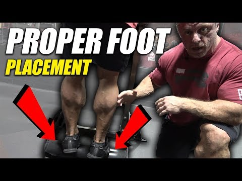 Proper Foot Placement To Build Freaky Calves