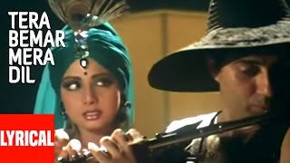 """Tera Bemar Mera Dil"" Lyrical Video | ChaalBaaz | Sunny Deol"