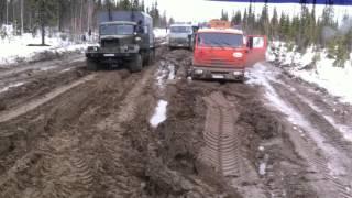 Конец зимника Усинск 2016
