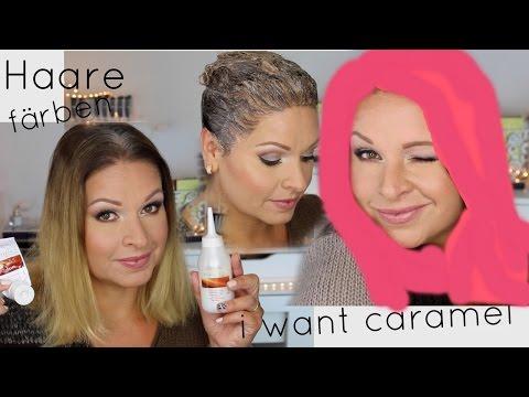Haare färben zu Hause | Farbe  Caramel | Haarfarbe im Test | Mamacobeauty