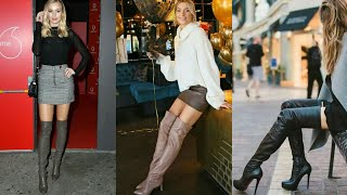 Latest And Stylish Latex Leather Stilleto High Heel Thigh High Boots For Ladies #2020