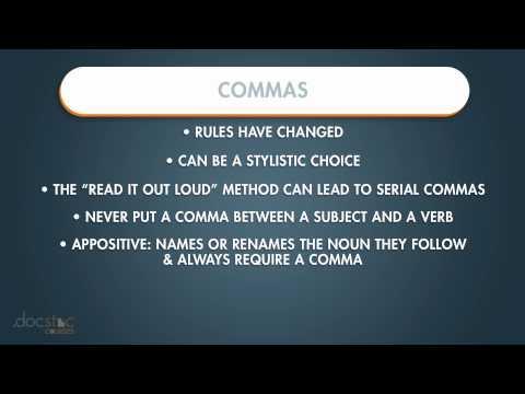 Commas - Business Writing & Grammar