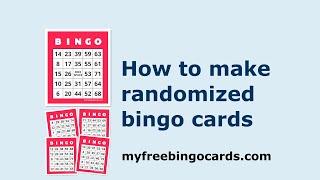 How to make randomized bingo cards