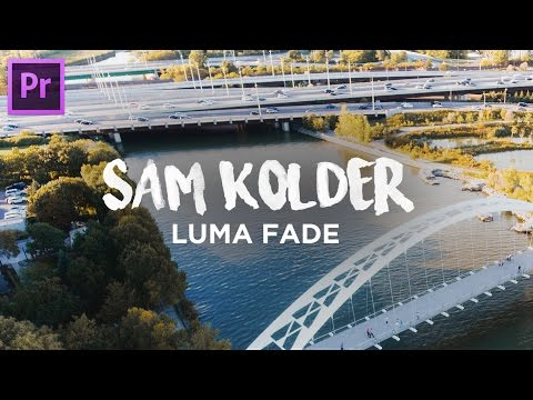 2018 Luma Fade Transition | Adobe Premiere Pro CC (Sam Kolder Inspired Tutorial)