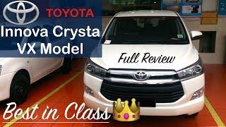Toyota Innova Crysta VX Model Interior,Exterior Walkaround and Full Review