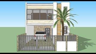 Casa en terreno 6x15 mts 123vid for Casa moderna minimalista 6 00 m x 12 50 m 220 m2