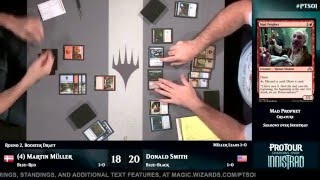Pro Tour Shadows over Innistrad Round 2 (Draft): Martin Müller​ vs. Donald Smith