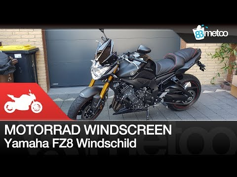 Motorrad Windscreen lohnt es sich ? | Puig Windschild Yamaha FZ8 | Puig Windschild Montageanleitung